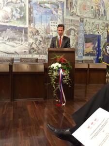 Würzburg Lord Mayor Schuchardt speaks at official anniversary ceremonies