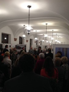 Dedication of a Rochester exhibit in Würzburg's city hall.